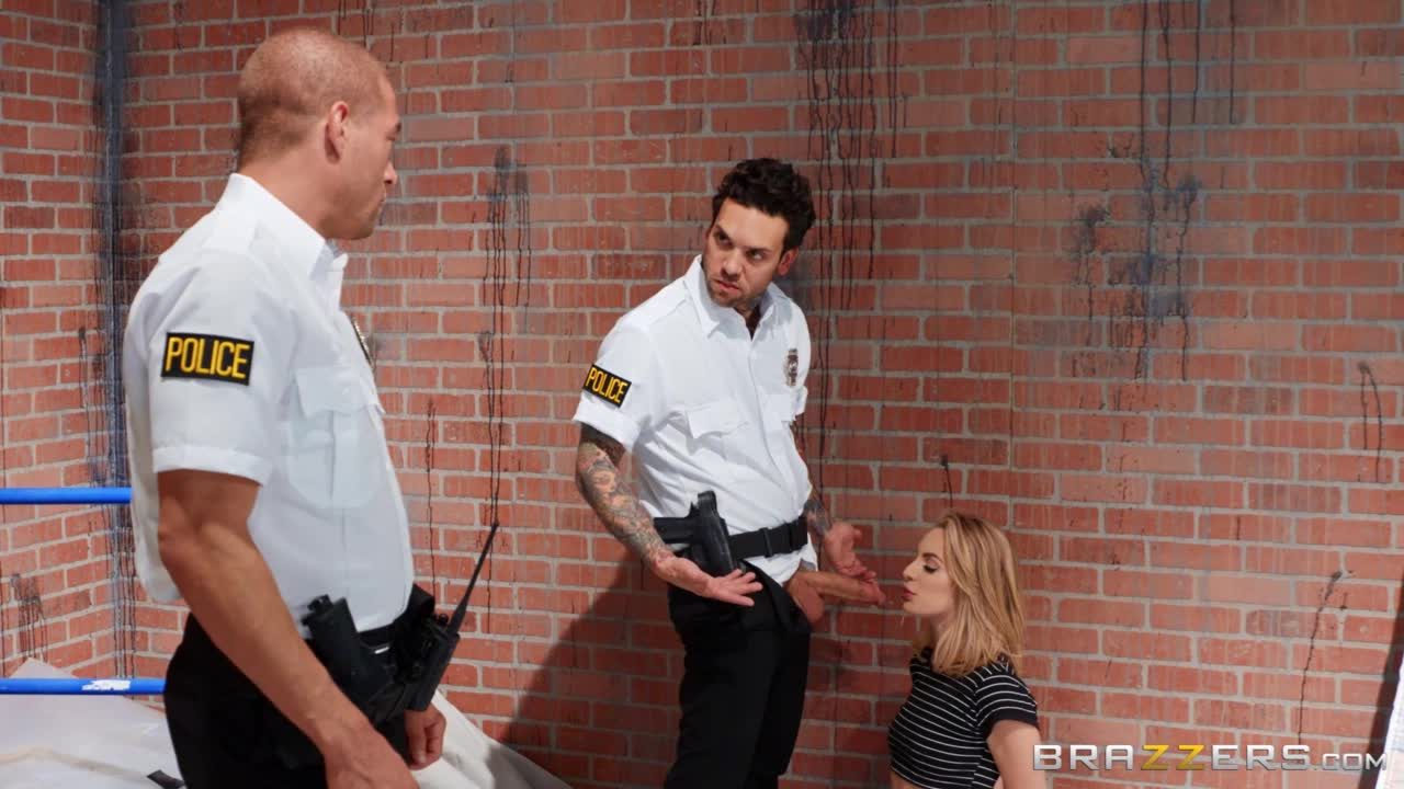 Kimmy Granger spitroasted by two cocks in uniform