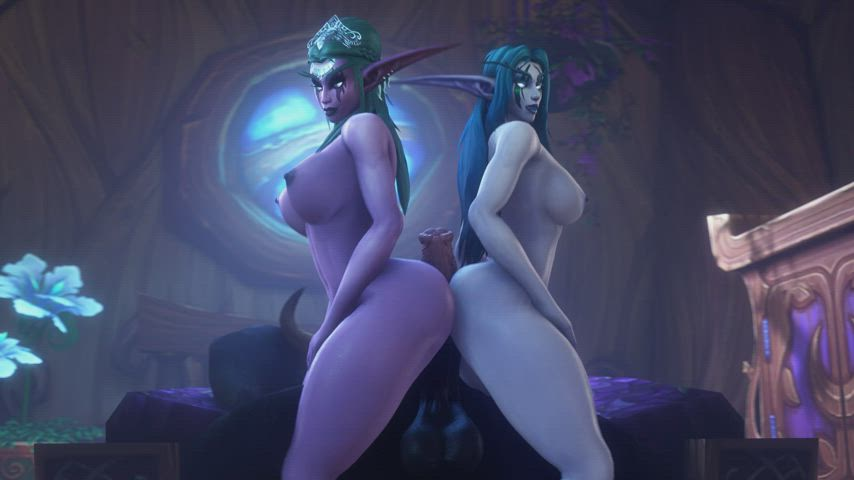 Tyrande and Ziahna showing teamwork (noname55) [World of Warcraft]