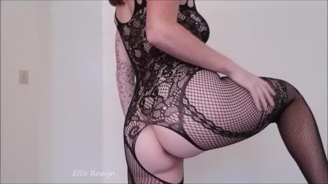 playing with myself in my fishnet bodysuit