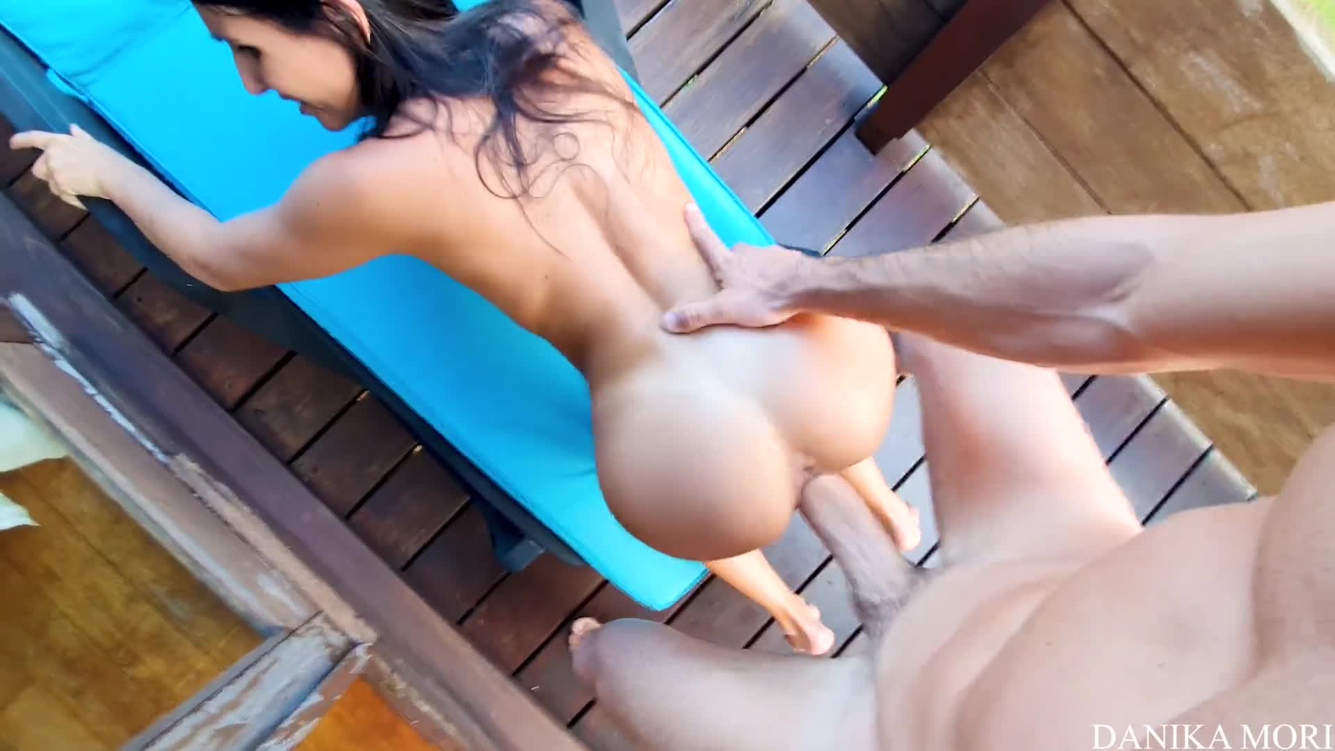 Petite Brunette Babe Gets Massive Cock in Her Tight Pussy