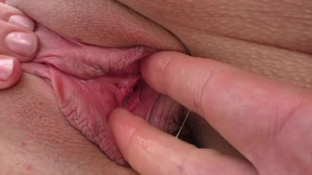 moist vagina closeup and creampie