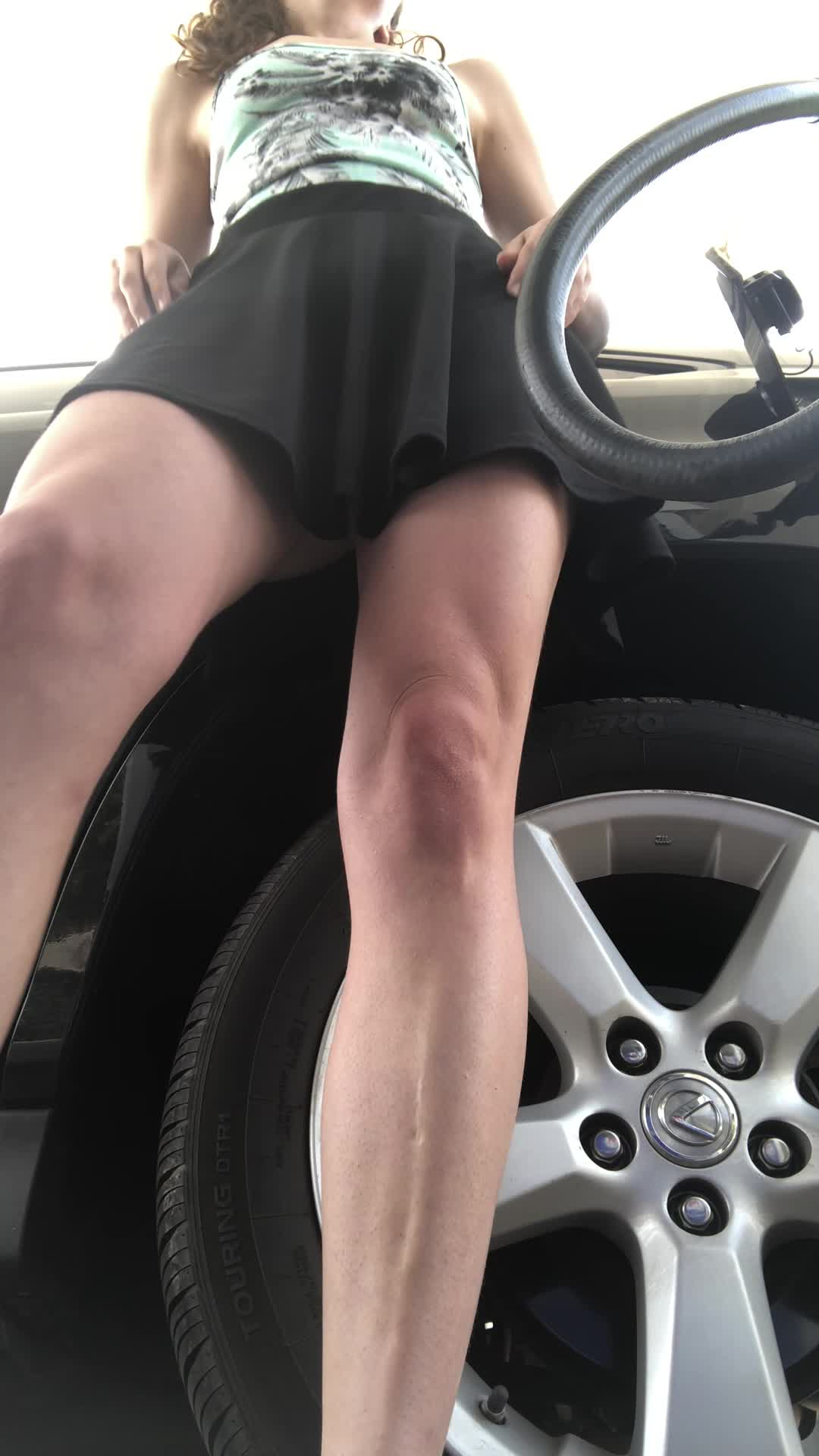 I love to service myself at the gas station