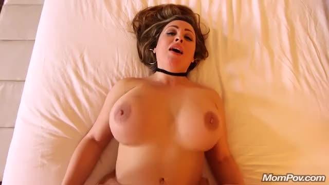 Tits bouncing on bed