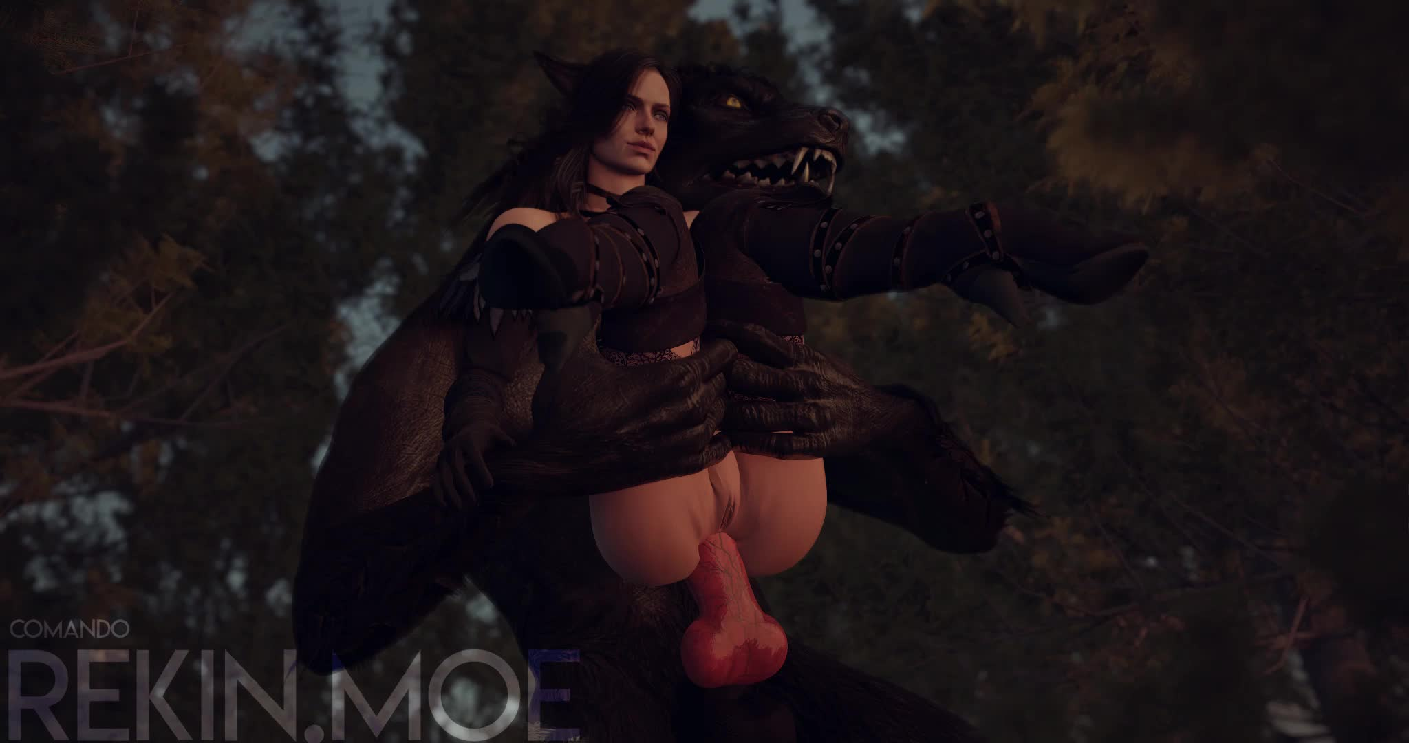 Yenner Getting Her Ass Knotted By A Werewolf