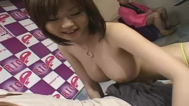 Letting a lucky fan play with her tits