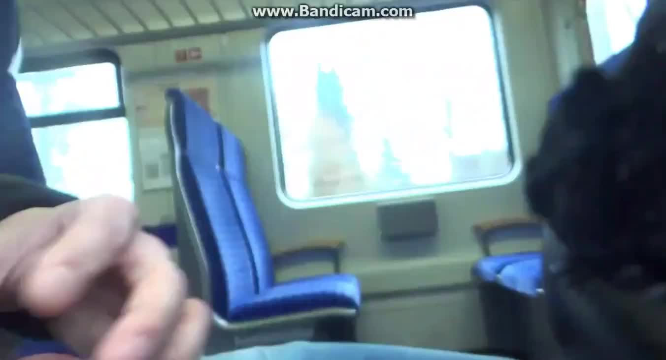 Cumwalk On The Train In Leather Ass!