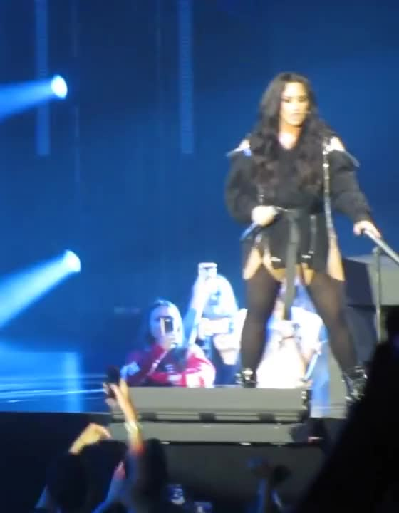 Watch Demi GIF by NEAL1905 (@neal1905) on Gfycat. Discover more Demi Lovato   Solo   TMYLM World Tour Manchester 2018, GIF Brewery GIFs on Gfycat