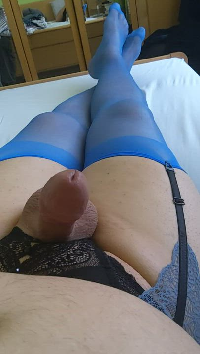 Shot in black and blue