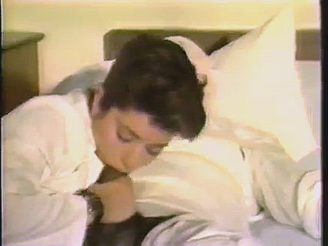 Kim Alexis and unknown guy in Piece Of Heaven (1988)