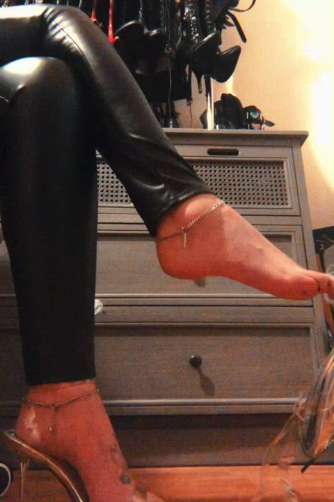 Locked in chastity and taunted with your key during foot worship. Sounds like heaven doesn't it?