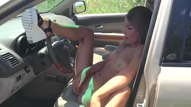 quick fingering session in her car
