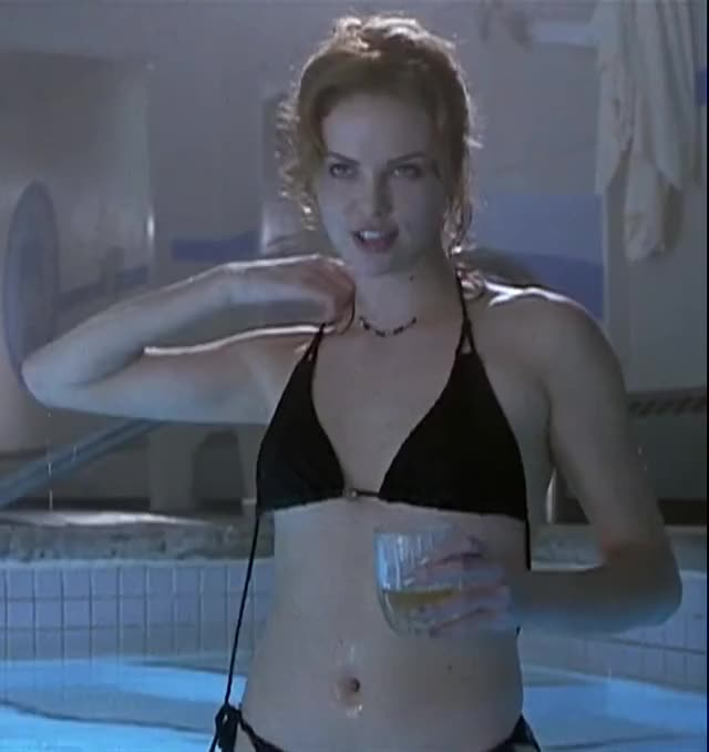 Charlize Theron topless in pool
