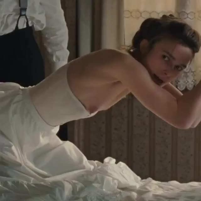 kinky Keira Knightley enjoys getting spanked as her nipples get hard