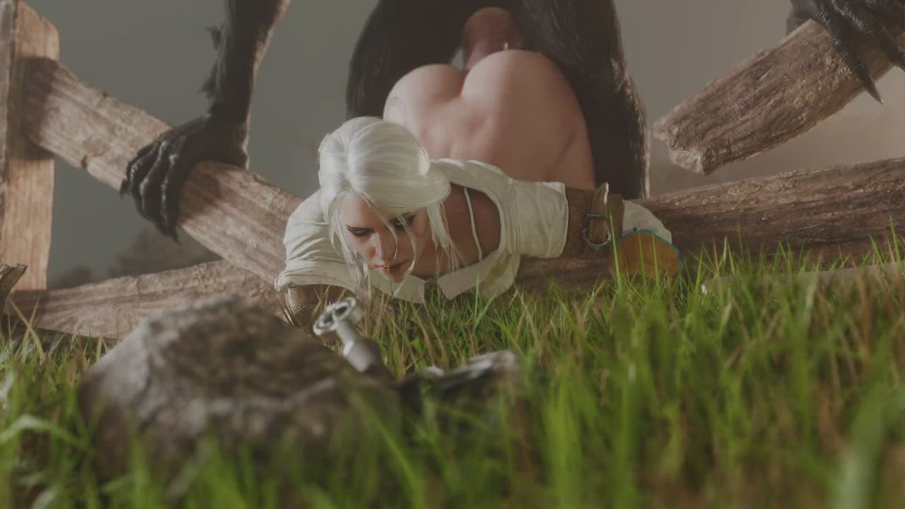 Ciri and Werewolf (Lord Breastish) [The Witcher]