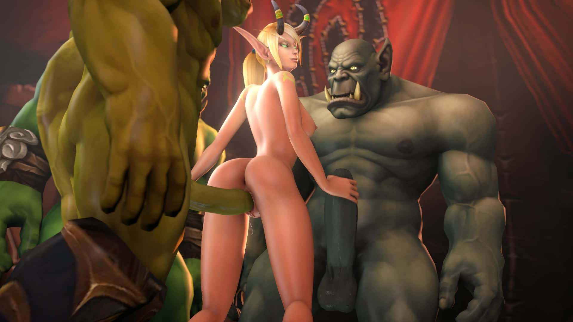 World of warcraft hardcore blood elf hentai smut clip