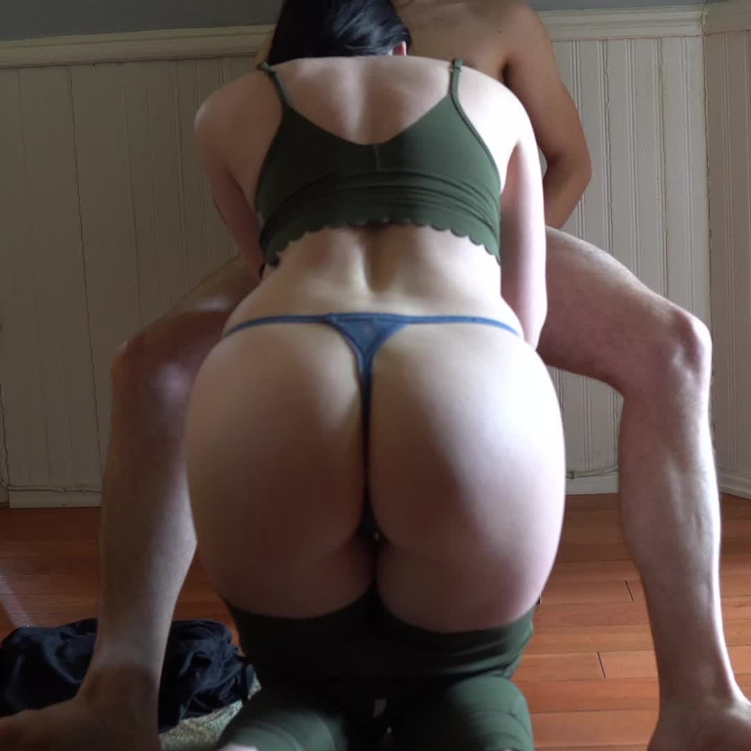 On my knees, sucking his cock.