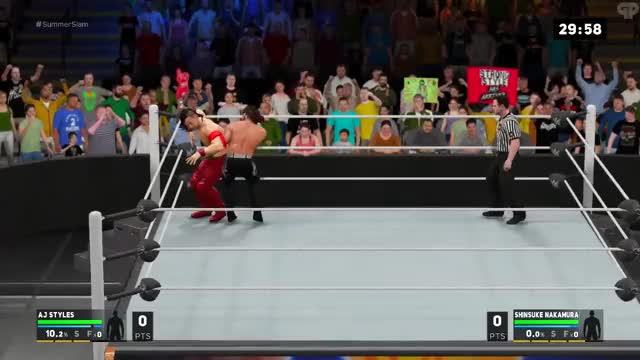 Watch Nakamura going a little overboard with his flexibility GIF by @lordryu on Gfycat. Discover more universe, wwe 2k17, wwegames GIFs on Gfycat