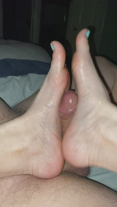 Another from last night's amazing Footjob.
