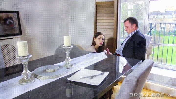 Busty housewife Satin Bloom sucking cock and taking dick in MMF threesome  147819