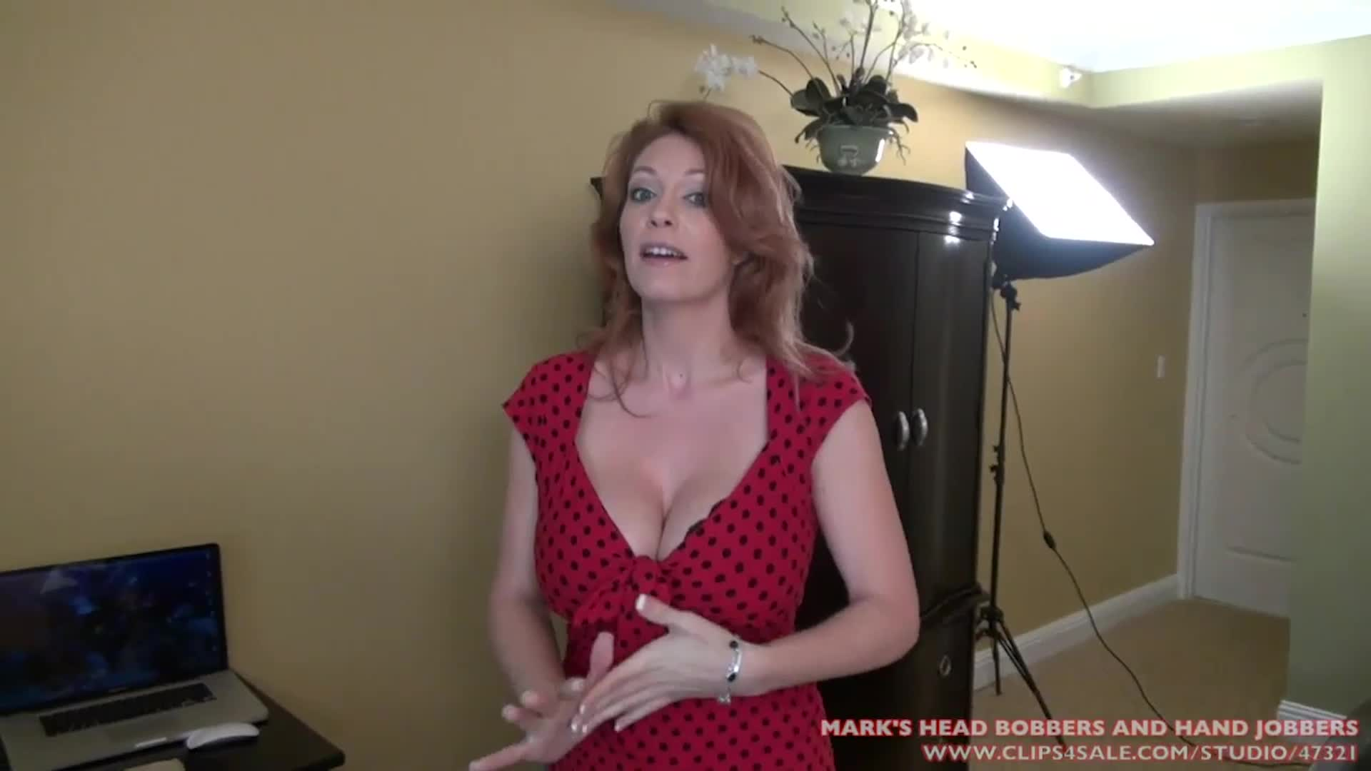 Karen gets angry at you because you want to shoot a porn with her daughter. She quickly realizes there's just one way out of it..
