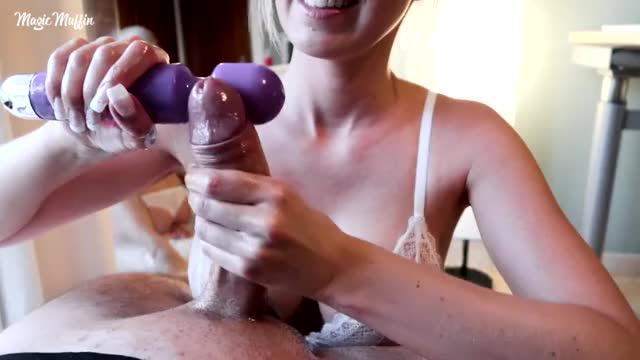 a vibrating toy and a creamy cook jerking finish