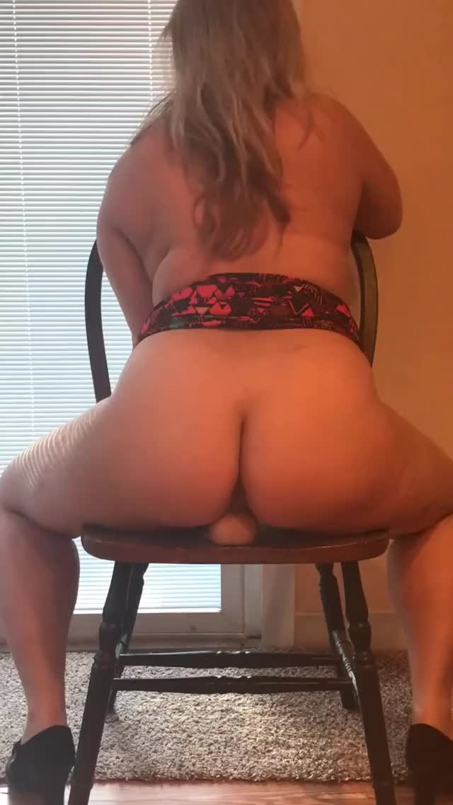 Riding my suction dildo with heels on (oc)