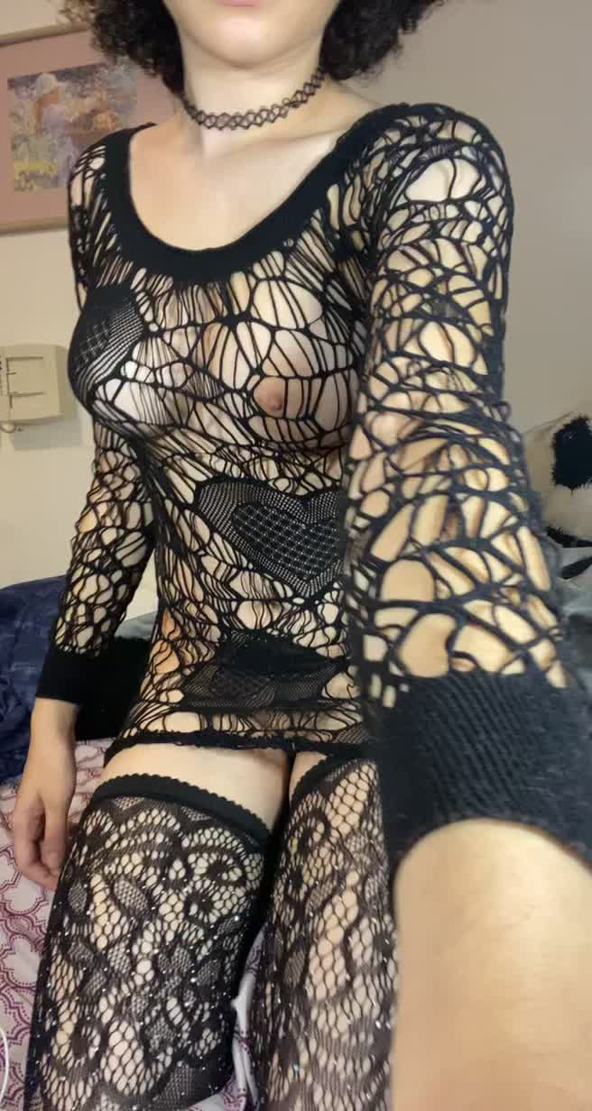What do you think of my fishnet sweater?
