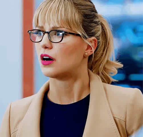 The office receptionist when she finds out that a newly installed camera in the supply closet captured someone having sex in it... [Melissa Benoist]