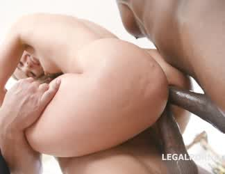 Kristy Black enjoys a double ass-fuck in the air by big black mambas
