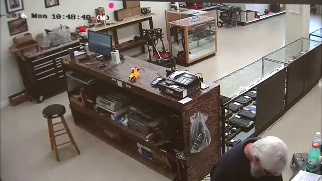 Watch Idiot tries to rob gun store - receives instant justice GIF on Gfycat. Discover more DarwinAwards, IdiotsNearlyDying, Justice_Porn GIFs on Gfycat