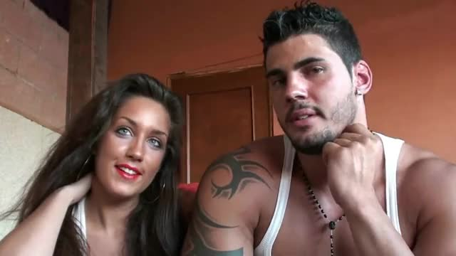Sexy young spanish couple