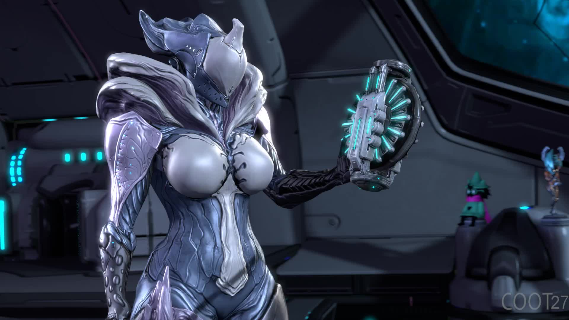 """Saryn tries out the """"primed breasts"""" mod"""