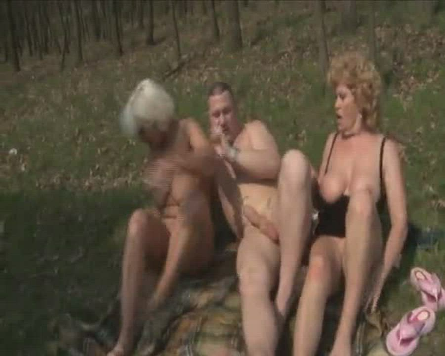 Granny licked ass after anal