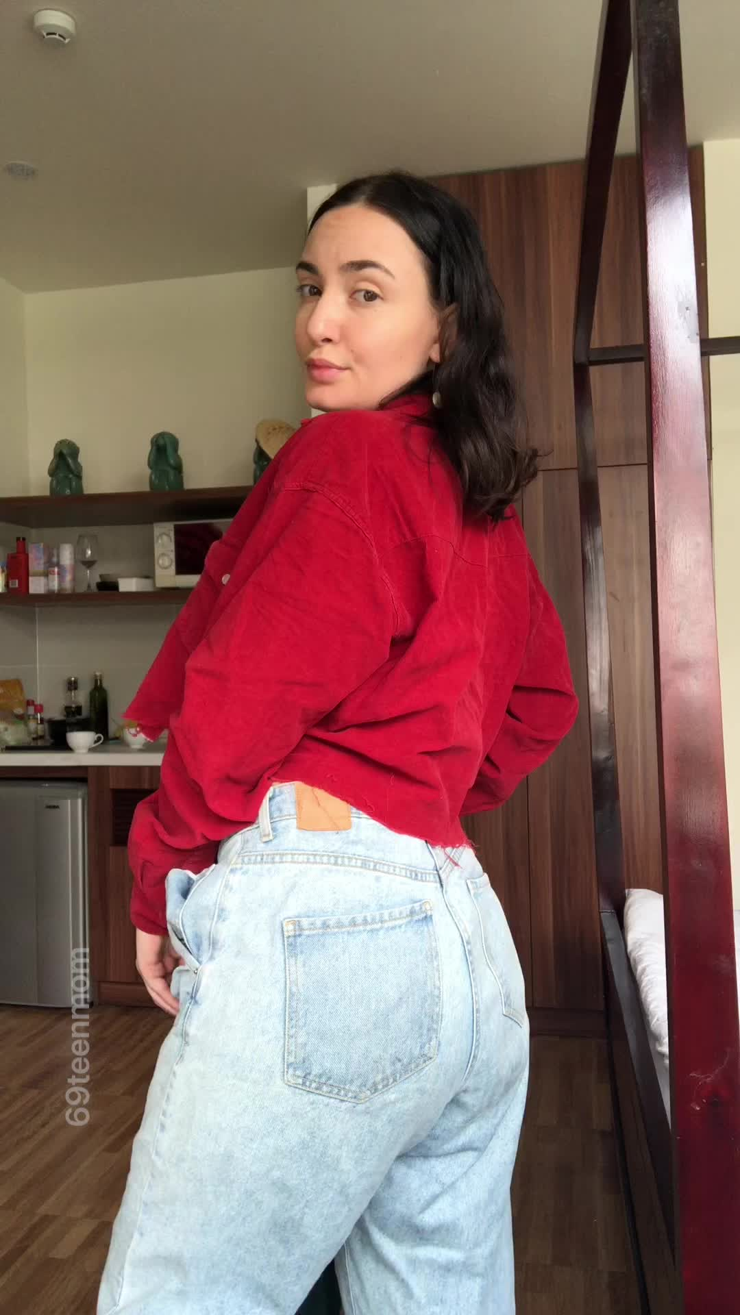 a little curvy, just hide it in these baggy jeans