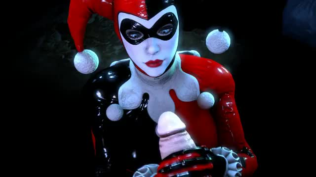 Harley in Latex stroking softly