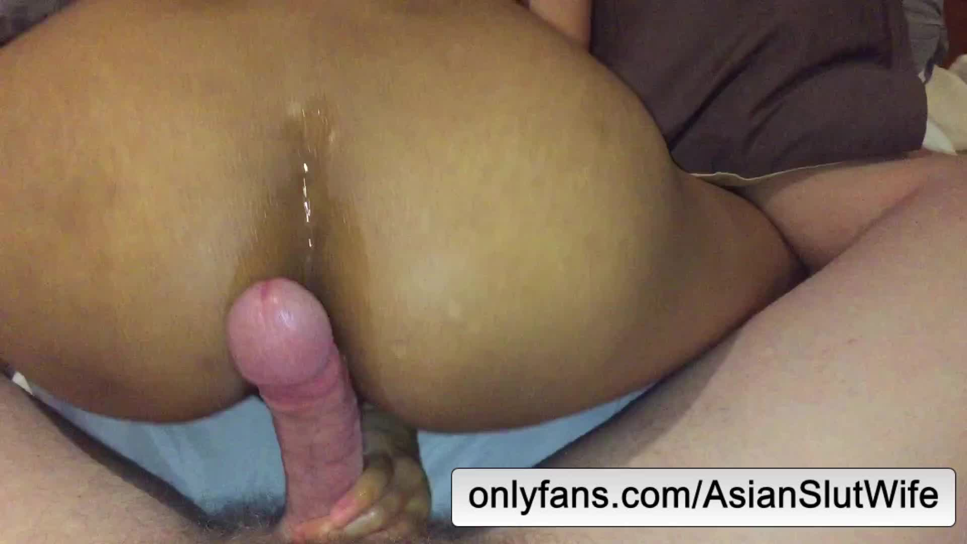 Asian Hotdogging Hard Dick