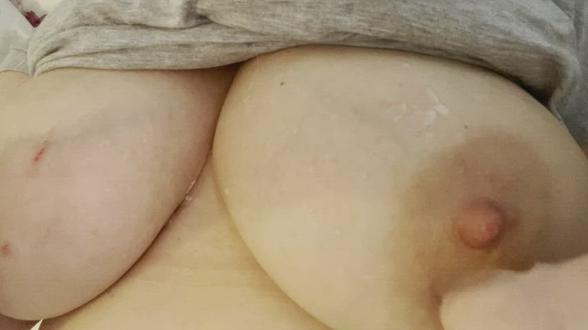 Would you rub ice cubes on my big areolas for me?