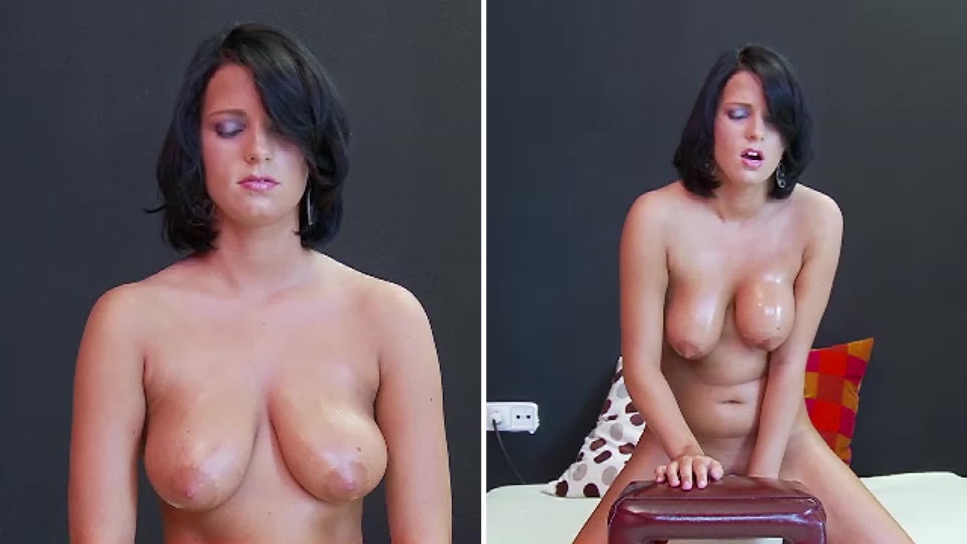 Vanity. And her tits. Take a Sybian ride.