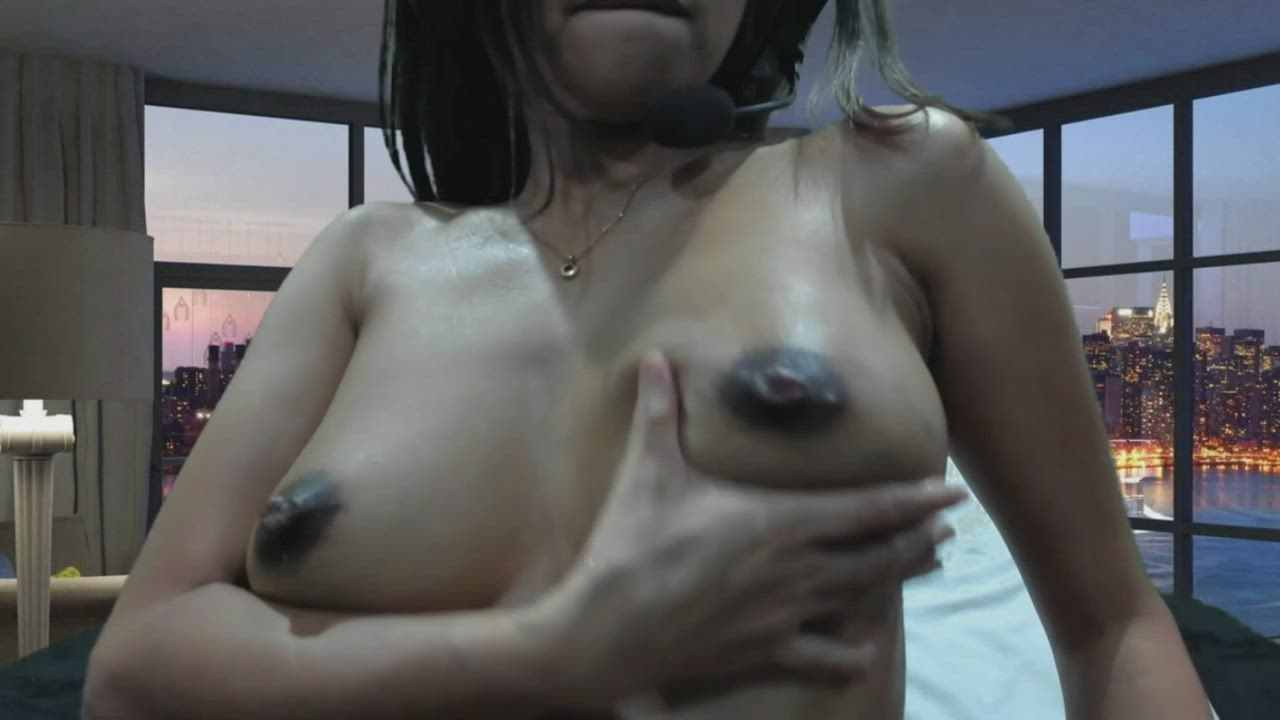 Milking Oiled up Boobs Part 6