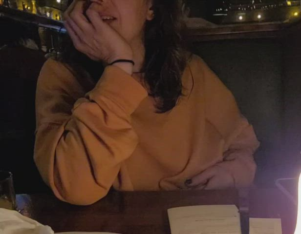 First time, so nervous - at local restaurant