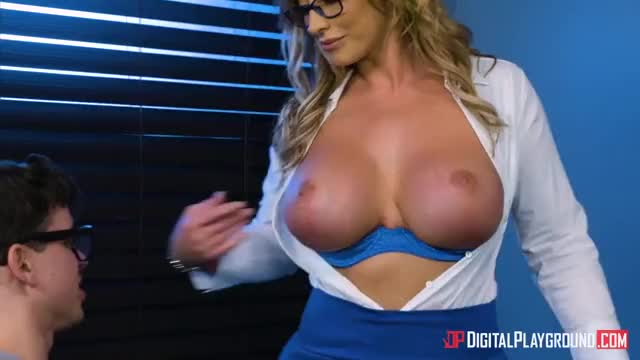 Hot Busty Milf Fucks A Young Guy