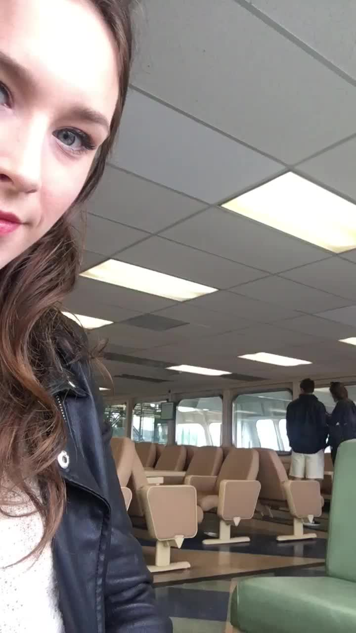 Tits out on the ferry! 😳