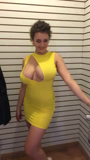 Trying on a Dress