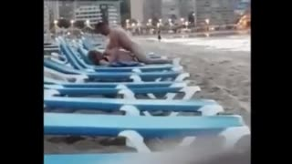 Naughty Couple caught fucking at the Beach