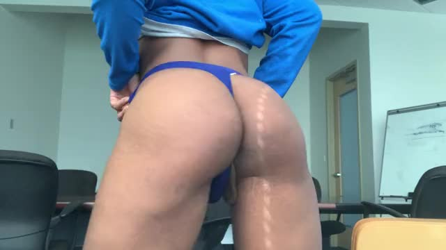 my last time twerking at work in advance of I got fired and became a full time sissy :