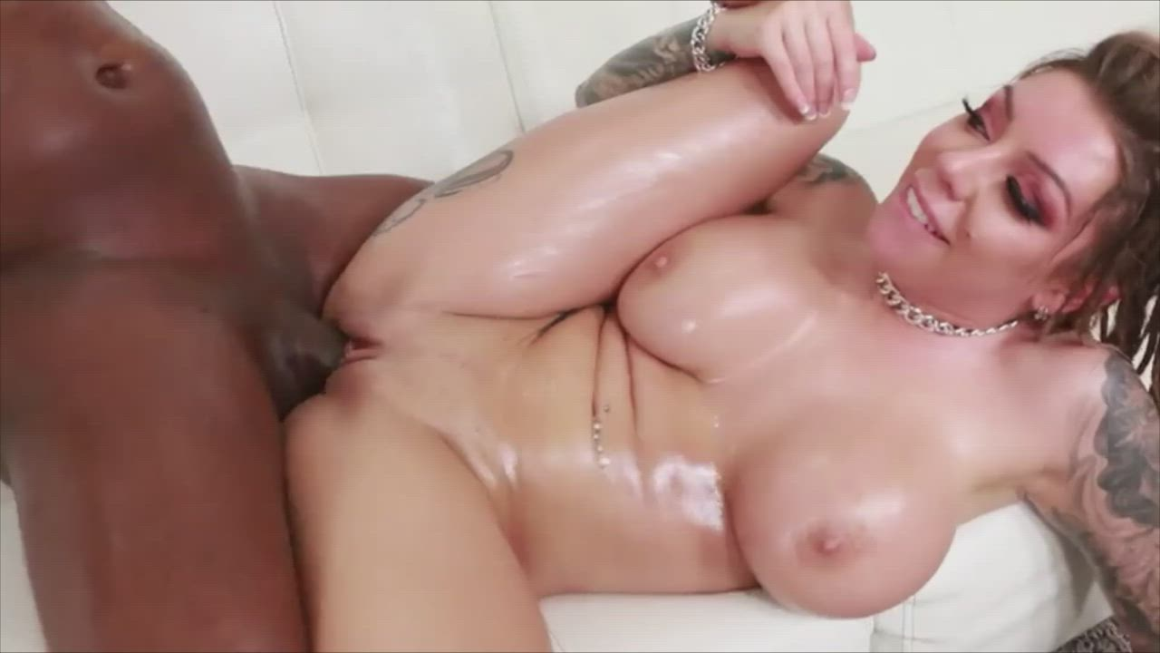 Karma Rx's oiled tits look nice while being fucked