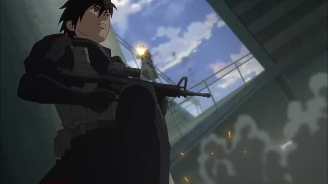 Watch Chill [Full Metal Panic! Invisible Victory] GIF by x54dc5zx8 (@casbh2v222) on Gfycat. Discover more anime GIFs on Gfycat