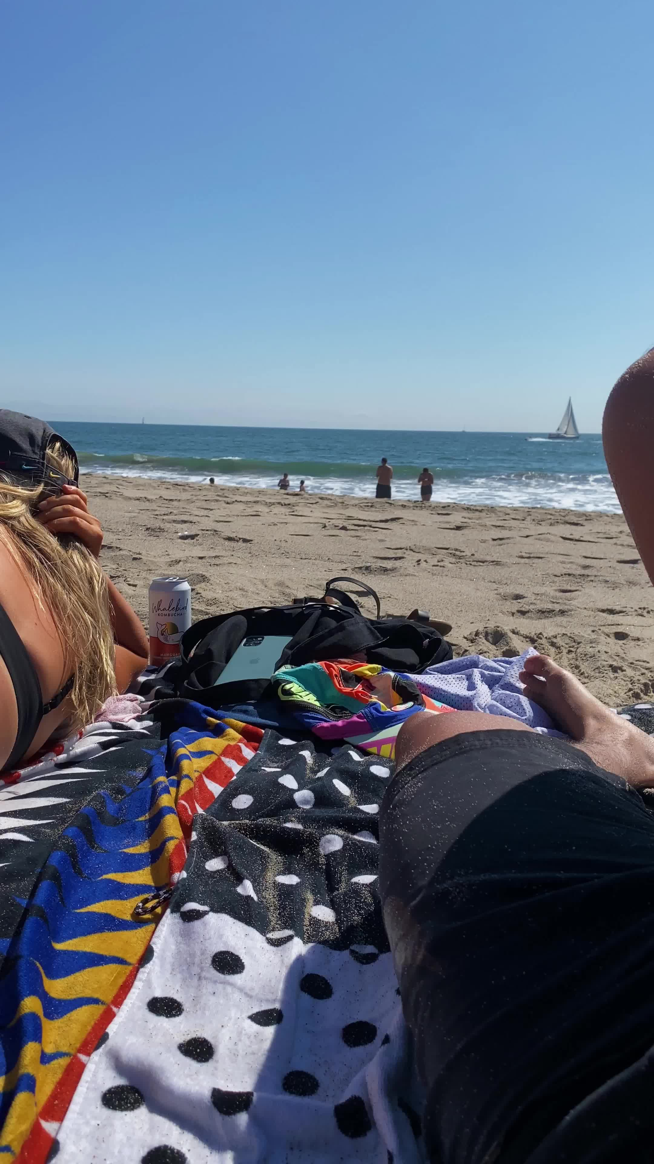 Wore a plug to the beach to make laying out more enjoyable for my beach bum.