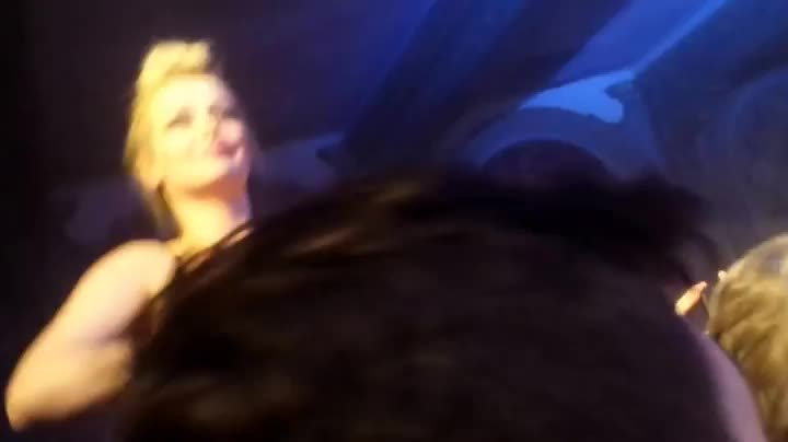 flashing her boobs at a concert