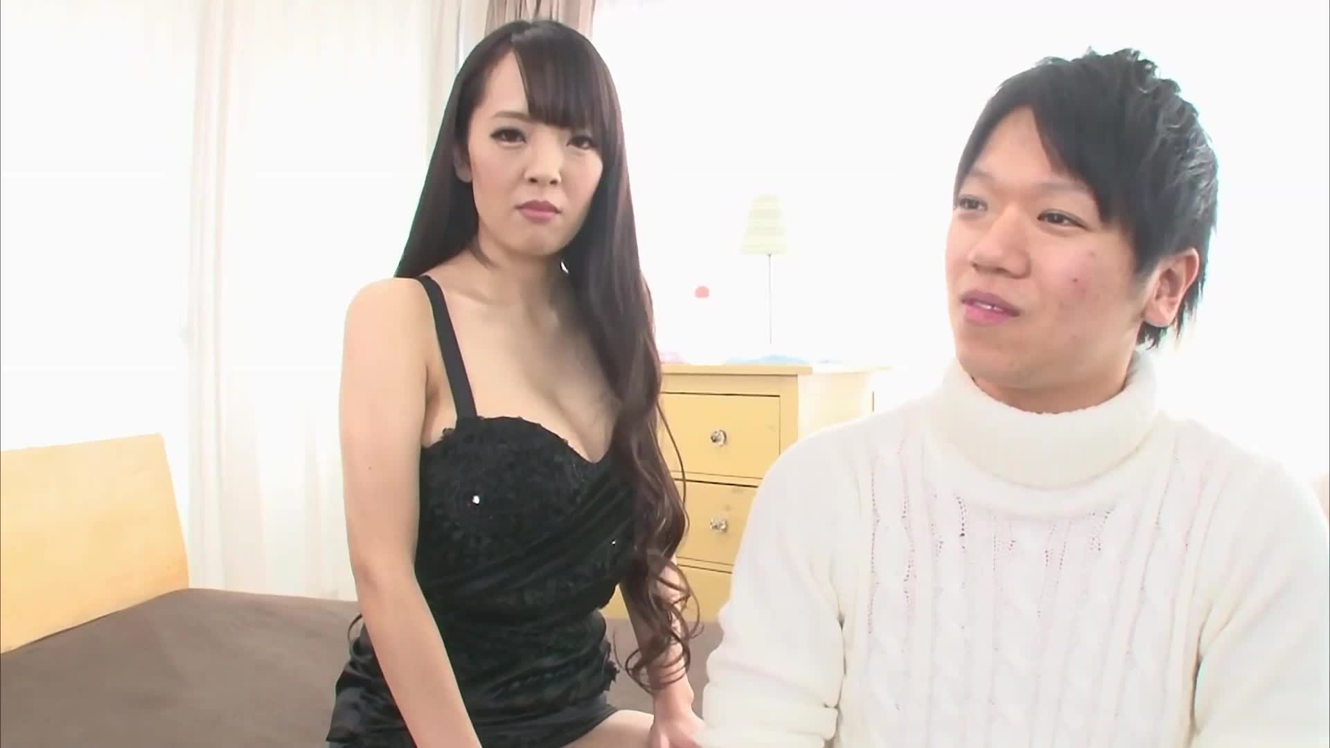 If You Can Stand Hitomi's Titty Fuck You Get to Cum Inside Her